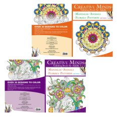 Creative Minds Coloring Books For Adults 3 4
