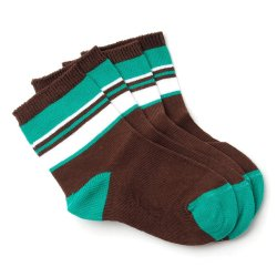 Curity Baby Socks Pack of 2 (Brown/Green)