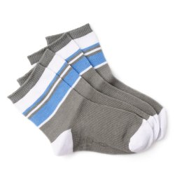 Curity Baby Socks Pack of 2 (Gray/Blue)