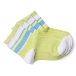 Curity Baby Socks Pack of 2 (Green/White)