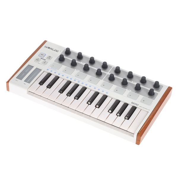Sunshine Girl-Worlde Ultra-Portable Mini Professional 25-Key USB MIDI Drum Pad and Keyboard Controller Malaysia
