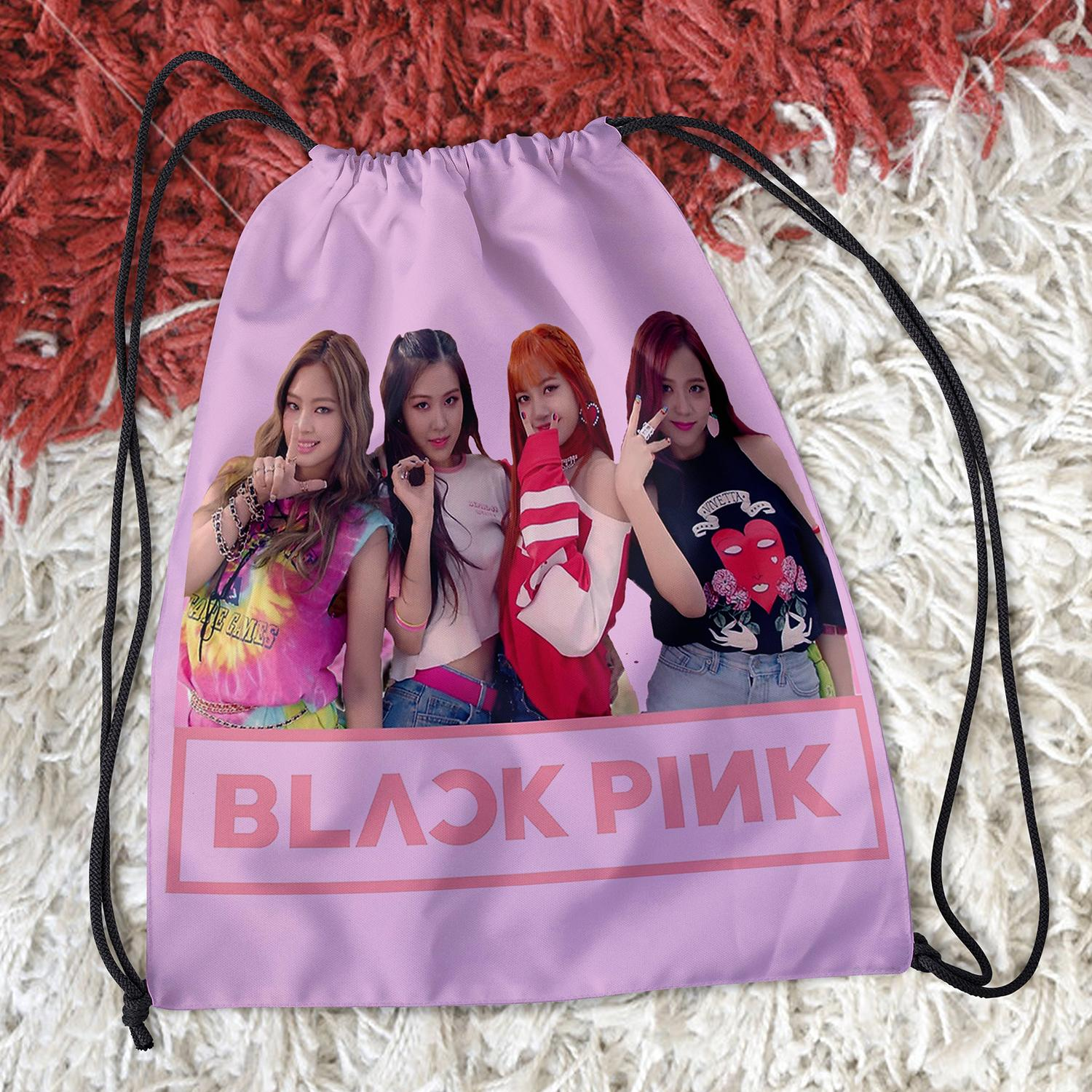"BLACKPINK  DRAWSTRING BAG 15"" x 13"" - BP06"