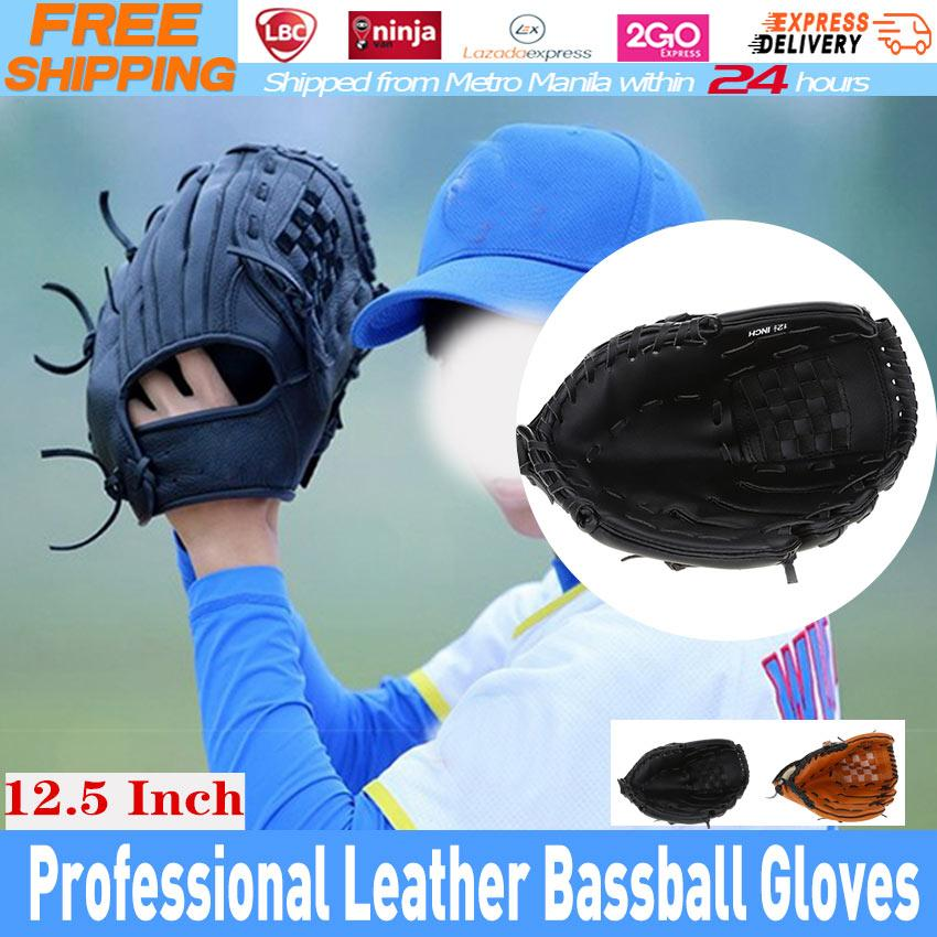 b5d5503a64 Outdoor Sports Brown Baseball Glove Softball Practice Equipment Size 12.5  Left Hand for Adult Man Woman