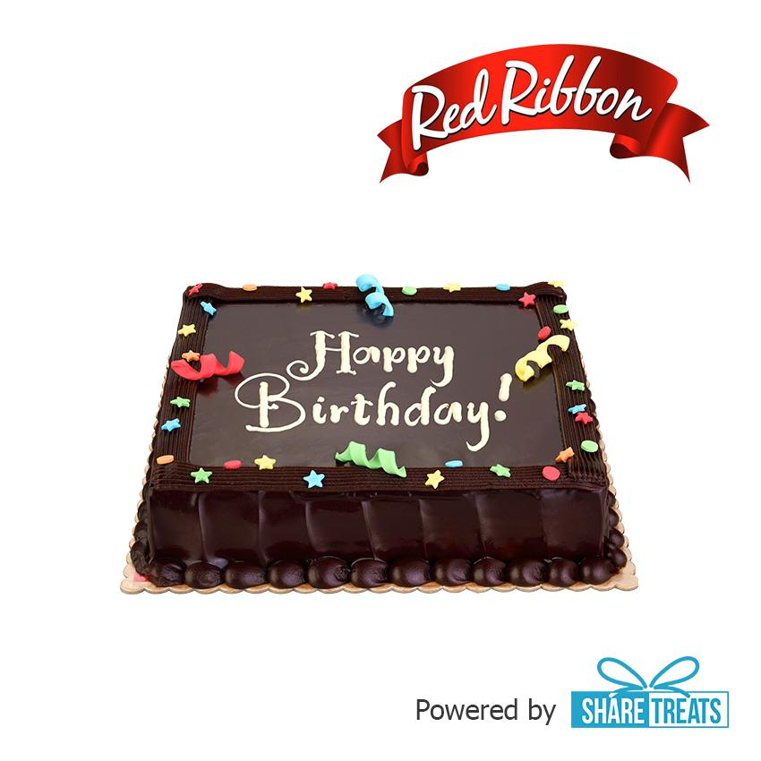 Red Ribbon Chocolate Dedication Cake Jr (sms Evoucher) By Share Treats.