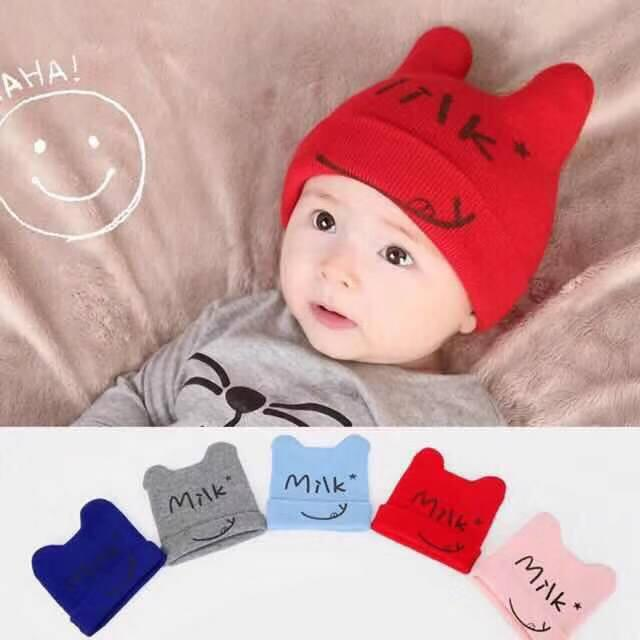 ab9e6d3c68b51 Baby Hat Cotton Beanie Cap Toddler Infant Baby Girls and Boys Knitted Hats