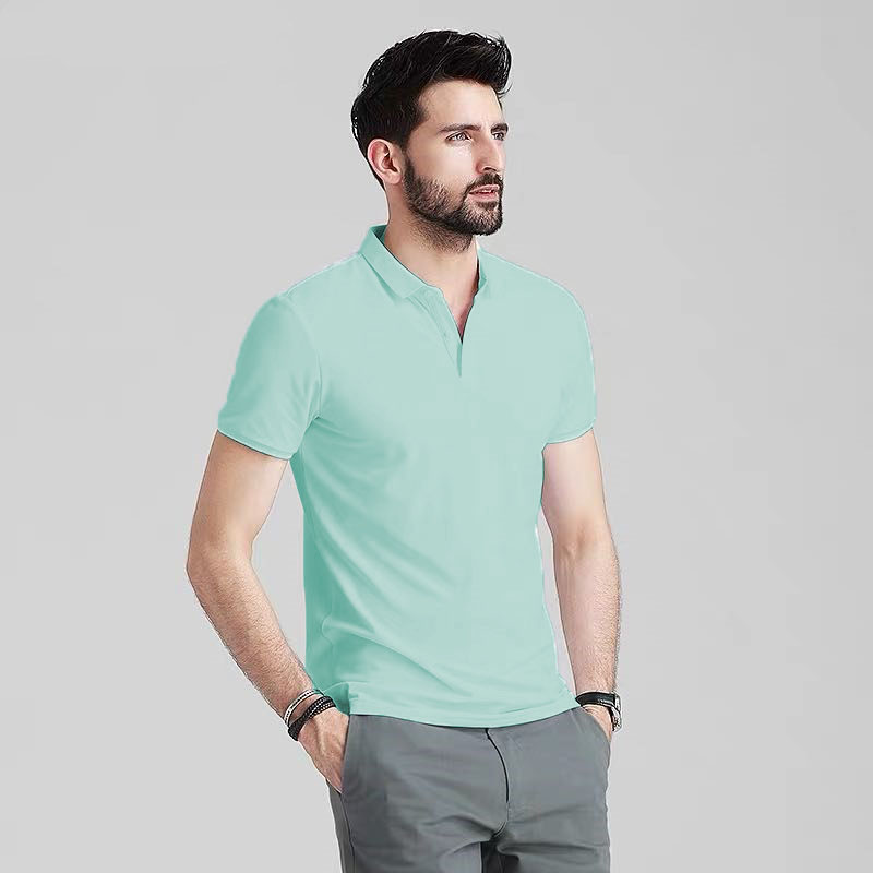Blue Corner Men's Polo Shirt Plain Comfort Wear Mint Green