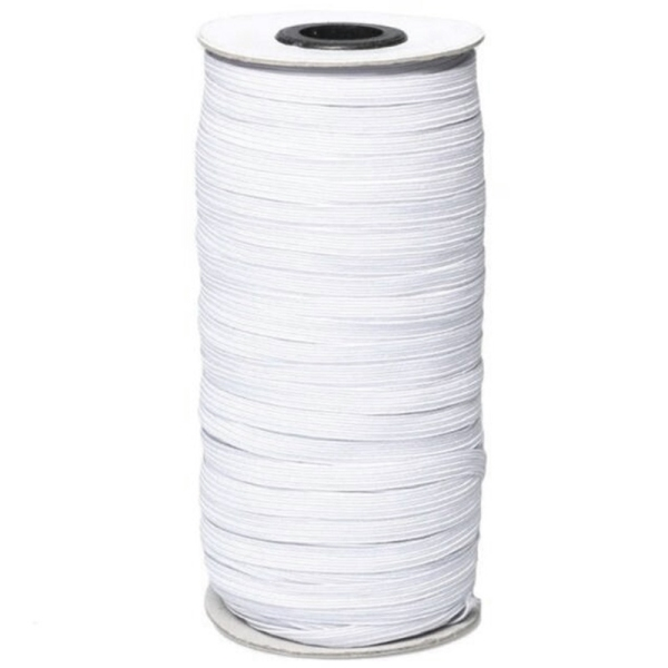 Bảng giá 100 Yards Length 1/4 Inch Braided Elastic Band White Elastic Cord Heavy Stretch High Elasticity Knit Elastic Band