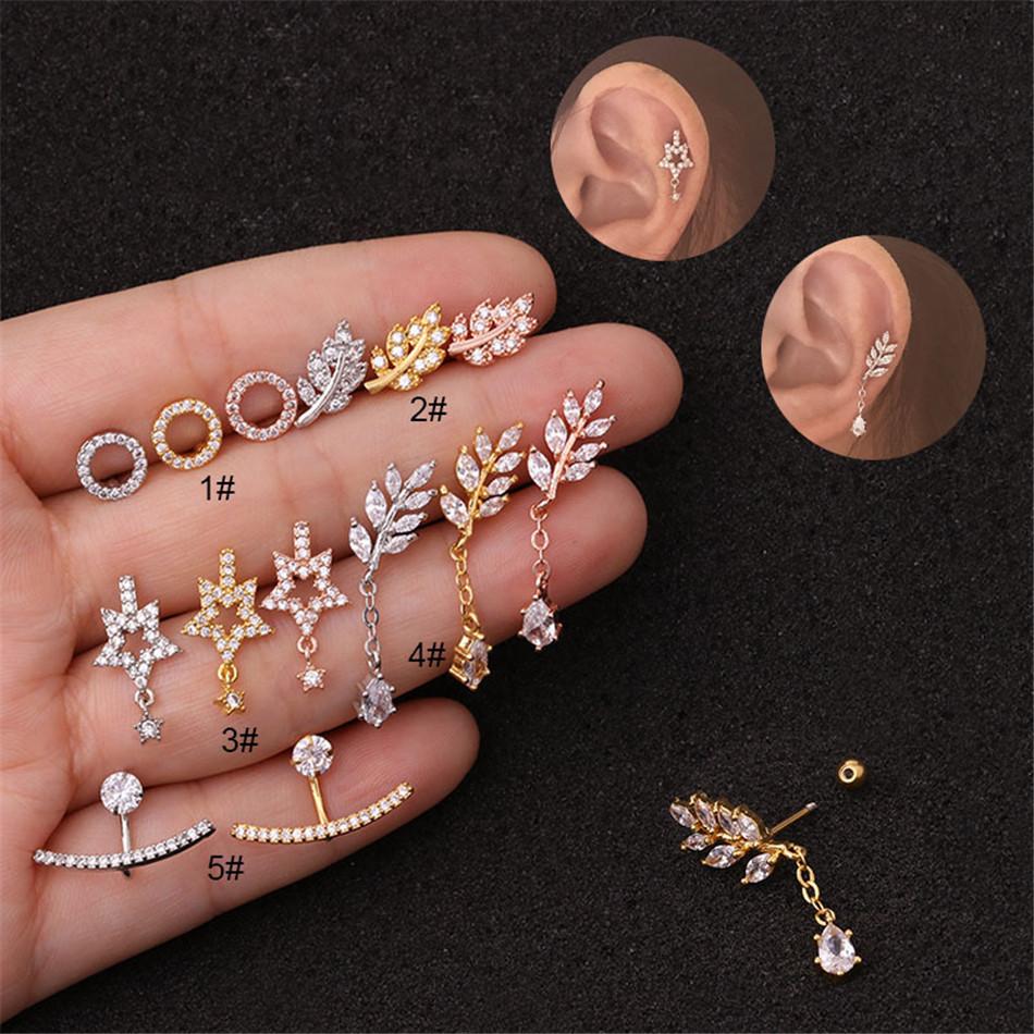 Halo Stainless Steel Piercing Hoop Earring Small Hoop Nose Ring