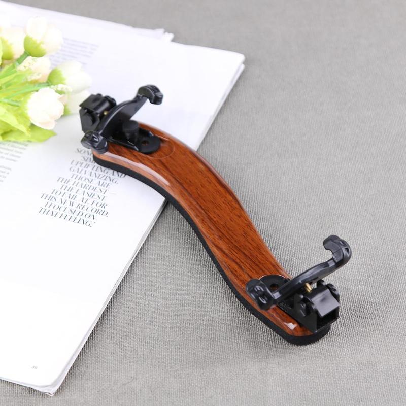 Violin Shoulder Rest Adjustable Professional 4/4 Full Size Violin Shoulder Rest Support Maple Wood Rest Violin Parts