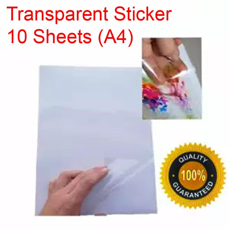 Transparent Stickers Compatible With Inkjet/laser Printers By Priceless Prints Ph.