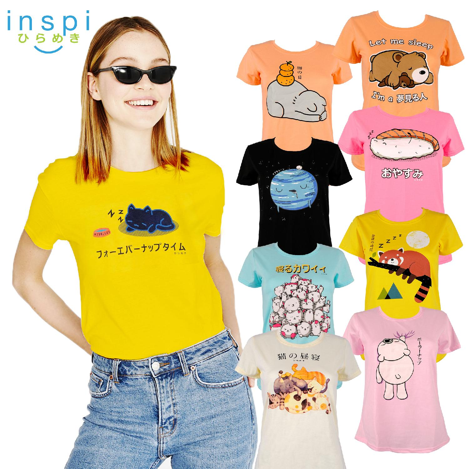 1e80bbce34d INSPI Tees Ladies Nap Collection tshirt printed graphic tee Ladies t shirt  shirts women tshirts for