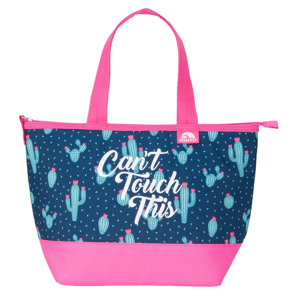 0a9b91dd97b4 Igloo Expressions Can't Touch This Mini Essential Tote Lunch Bag (Pink  Cactus)