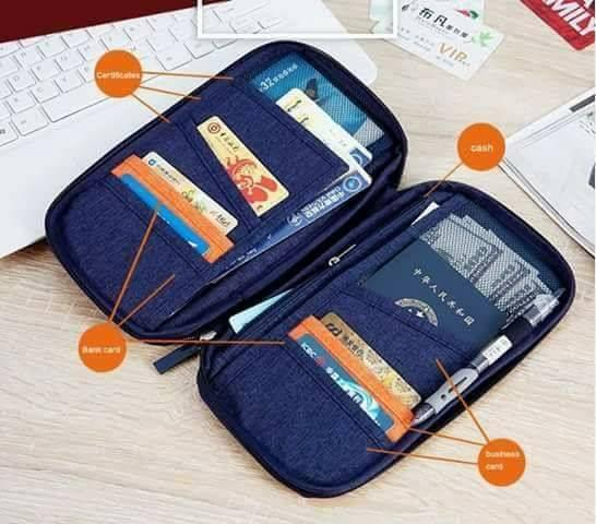 Sale Limited Stock Only Travel Passport Holder Zipper Case Wallet Document/card Security Credit Card Id Document Organizer Holder Bag By Tongs Store.