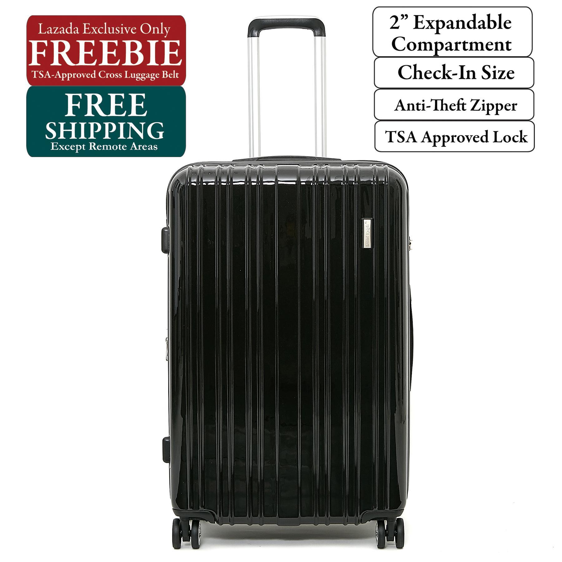 18bd9fbdcd39 British Knight BSQ601ZTE Black Large (28 Inch) Expandable Luggage with TSA  Lock