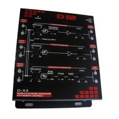 D12 D-X3 Mobile Electronic Crossover (black) By Mega Dimps Automotive.
