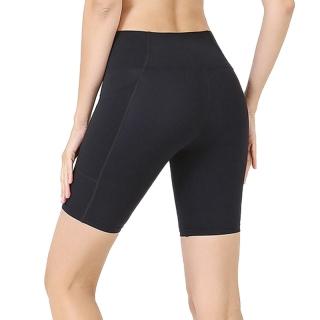 Summer Ladies Yoga Shorts Double Side Pockets Sports Tights Seamless Fitness Shorts thumbnail