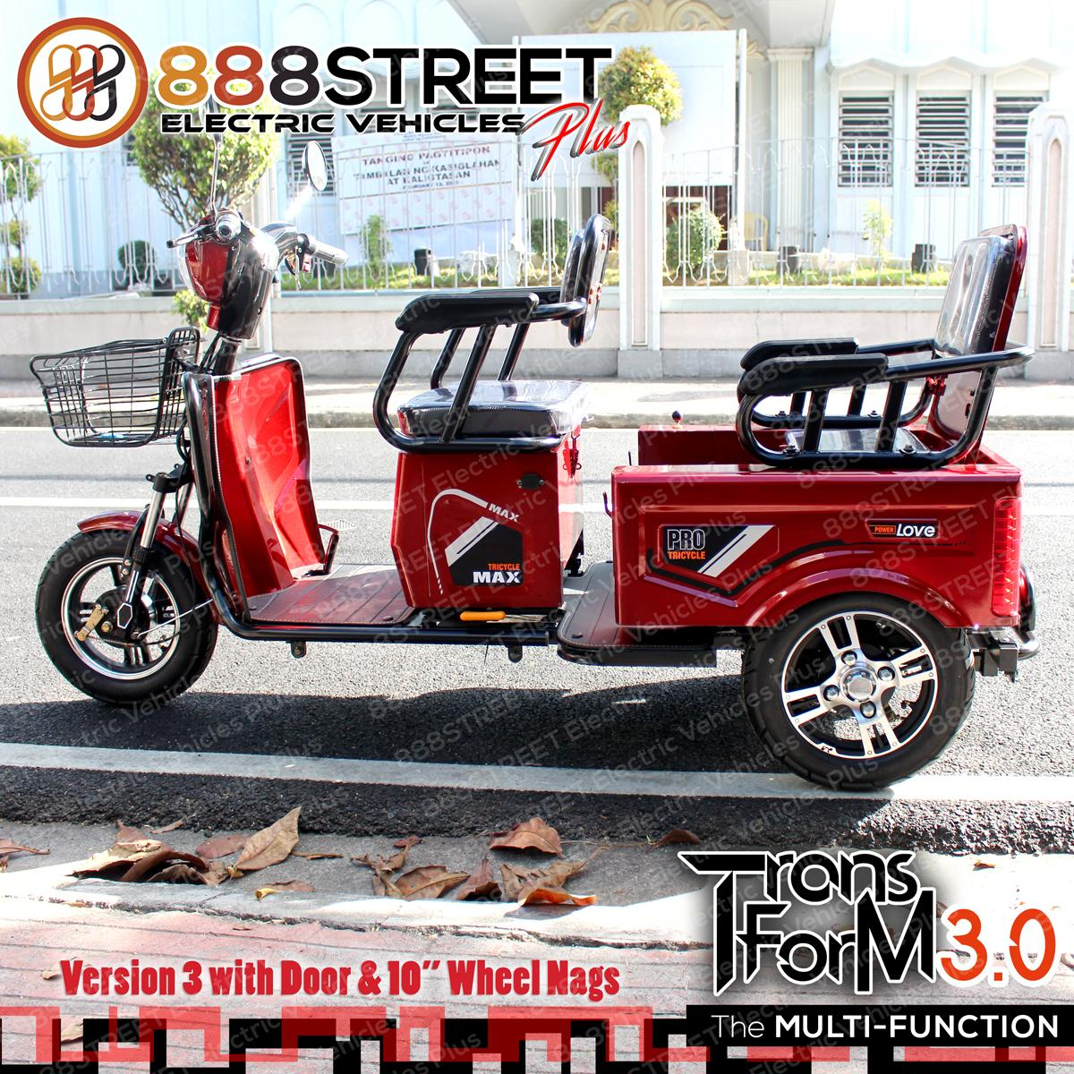 Transform 3.0 Electric Trike Etrike Ebike By 888street By 888street Inc..