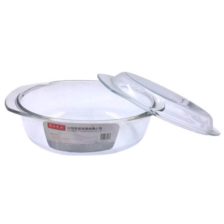 3.5l Oval Tempered Glass Casserole By Lst Dry Goods.