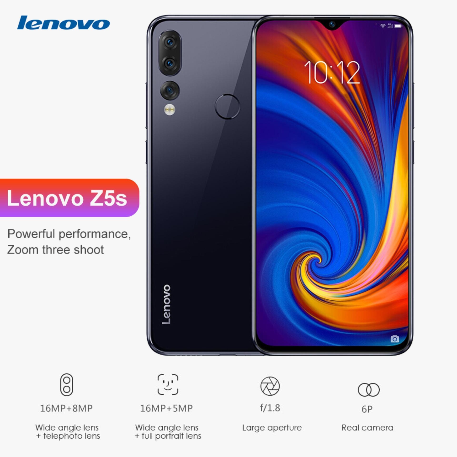 Original Lenovo Z5s 4G Smart Phone 6 3 inch Android P Qualcomm Snapdragon  710 Octa Core 4GB RAM 64GB ROM 16 0MP Front Camera Fingerprint Sensor