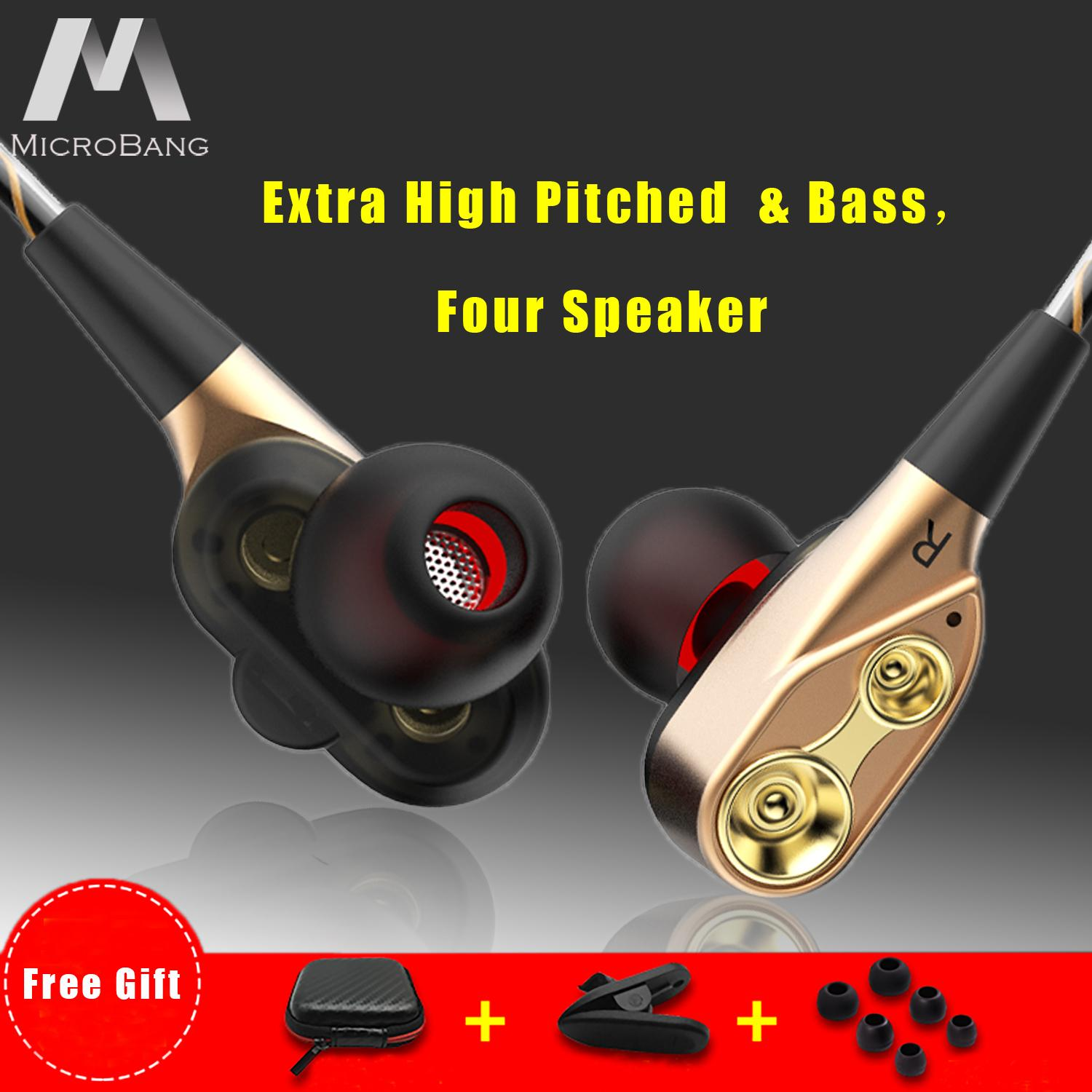 MicroBang In Ear Headphones Wired Earbuds Richer Bass HiFi Stereo Noise  Cancelling Headphones Dual Drivers High-fidelity Audio and Deep Bass