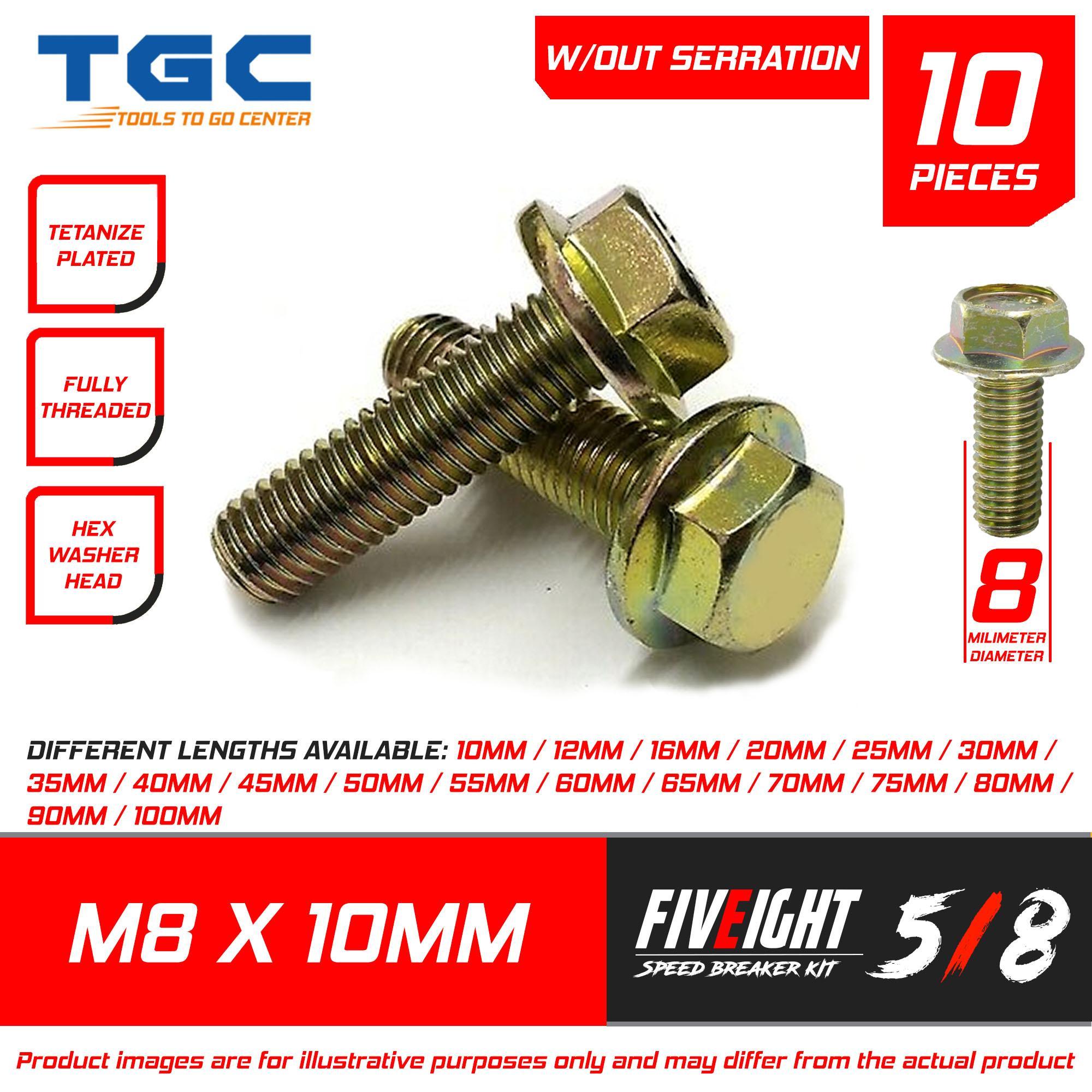 M635 M6 Hex Flange Screws 10Pcs Stainless Steel SS304 Screws Cap Washer Head Bolts Fastener