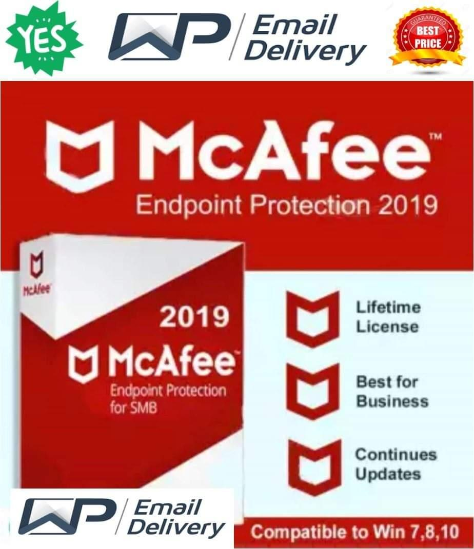 McAfee Endpoint Protection 2019 Antivirus for Windows (Lifetime  Activated+Unlimited User)