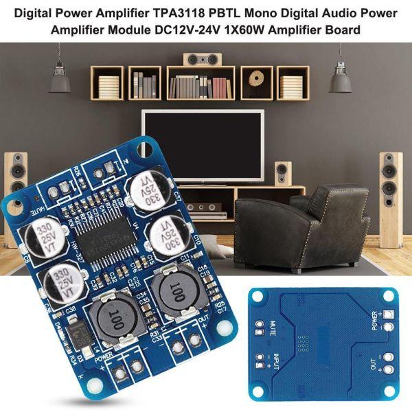 STAMEEK Replace TPA3110 Digital Audio PBTL 60W Board Module TPA3118 Amplifier
