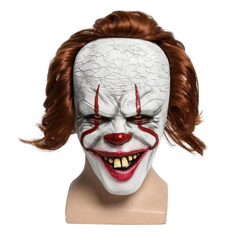 Pennywise Clown LED Light Halloween Mask It Chapter Two Joker Horror Prop W2R9