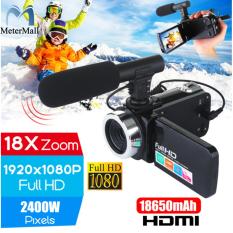 May quay video 4K HD chuyên nghiệp, màn hình cảm ứng LCD 3.0 inch nhìn đêm, camera zoom kỹ thuật số 18x có micro – INTL