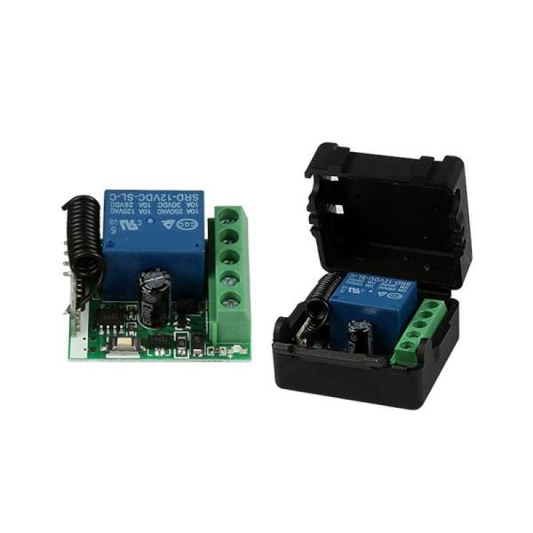 DC 12V 1CH 433MHz Universal Wireless Remote Control Switch RF Relay Receiver 433 MHz Transmitter Button Module Diy Kit