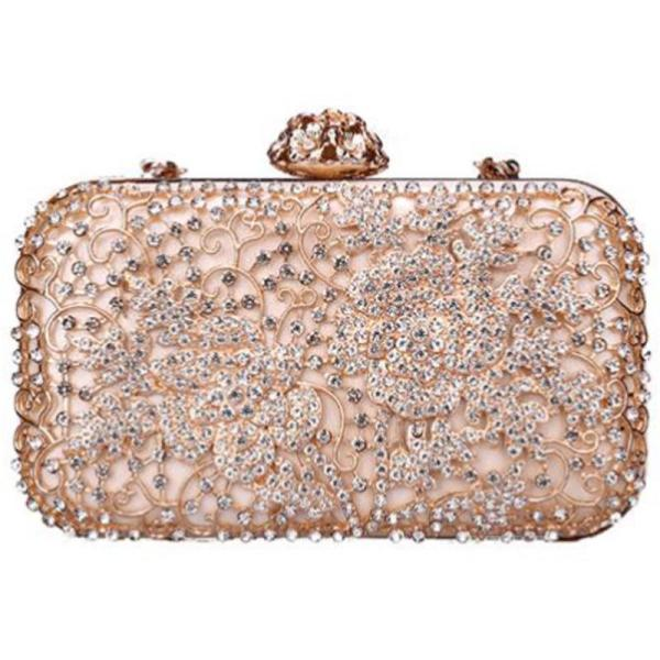 Luxury Evening Clutch Bag Womens Tote Shiny Chain Shoulder Messenger Bag Lady Party Bag