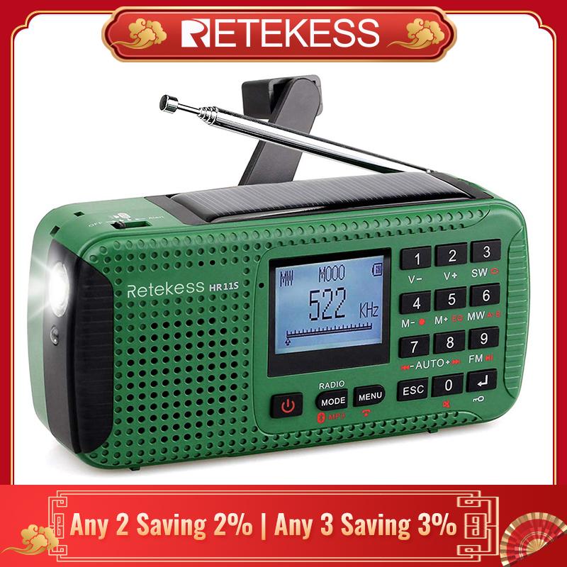 RETEKESS Pocket DSP AM//FM Radio Alarm Sleep Function MP3 player Calendar