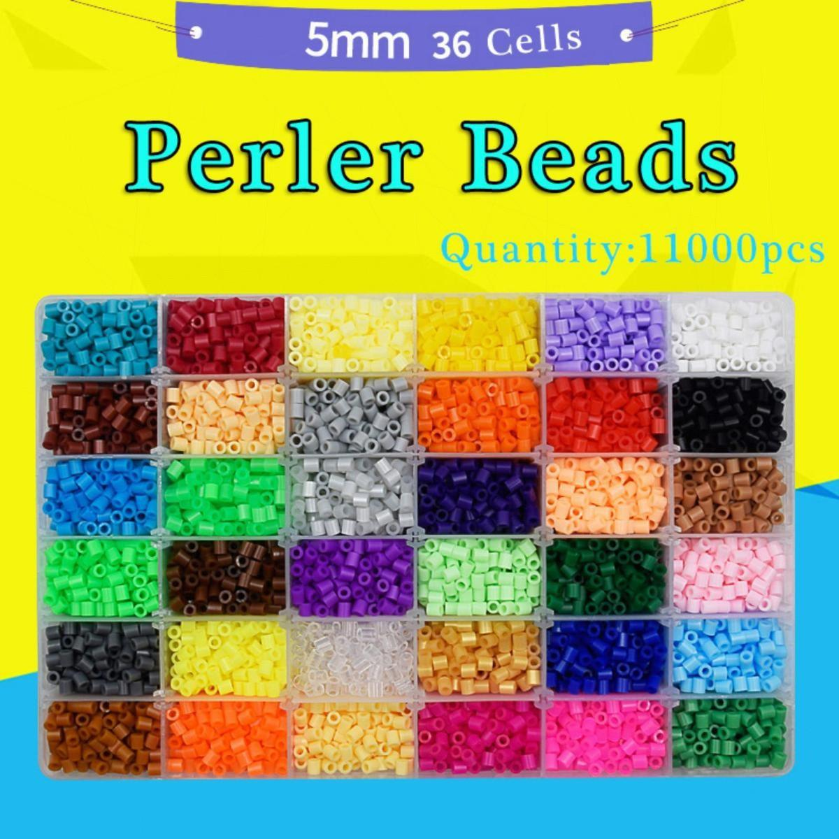 Perler Beads Fuse Beads Hama Kids Beads Kit 11000 Pcs 36 Colors Craft Beads For Children By Tcgbhvkog.