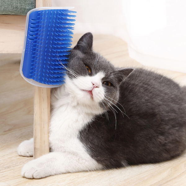 2sql 3 Colors Hot Self Groomer Brush Wall Corner Massage Brush Cat Toy Hair Removal Comb Comfortable Artifact Portable Cute Pet Accessories