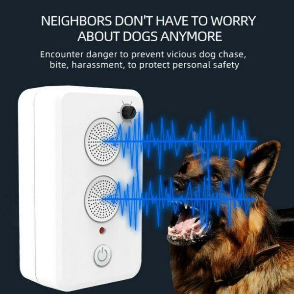 【Mookis】 Thiết bị chống sủa bằng sóng siêu âm an toàn cho chó cưng Kiểm soát vỏ cây Dừng Repeller Công cụ giảm thanh có thể sạc lại 【Khuyến mãi lớn】