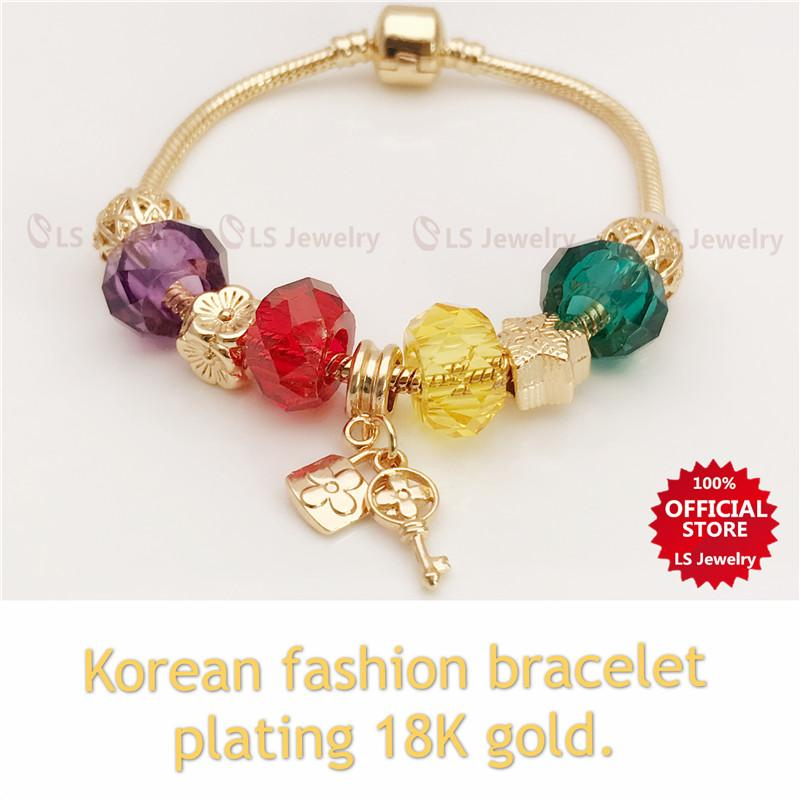714052a4d LS jewelry Korean Fashion Stainless Gold Plated Bracelet for Women B1133