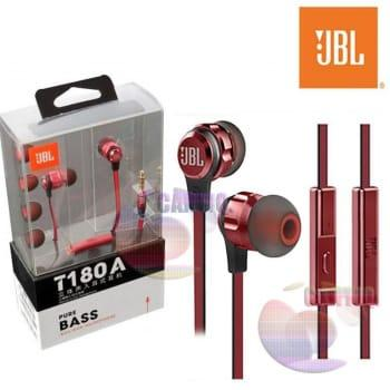 JBL T180A (RED) Wired headset In ear bass Earphone Mobile phone Sport Earphones with