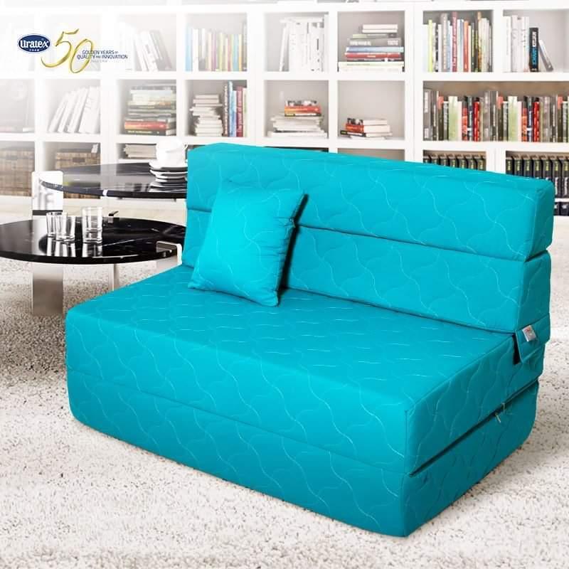 Incredible Uratex Strata Sofa Bed Single Blue Ncnpc Chair Design For Home Ncnpcorg