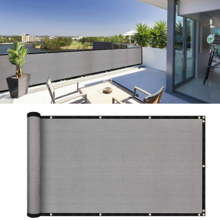 SYRUPSHADDOCKING Black Grey Coffee UV-Proof Windscreen Sunshade For Porch Fence Awning Balcony Privacy Screen Cover Weather-Resistant For Yard Patio Garden thumbnail