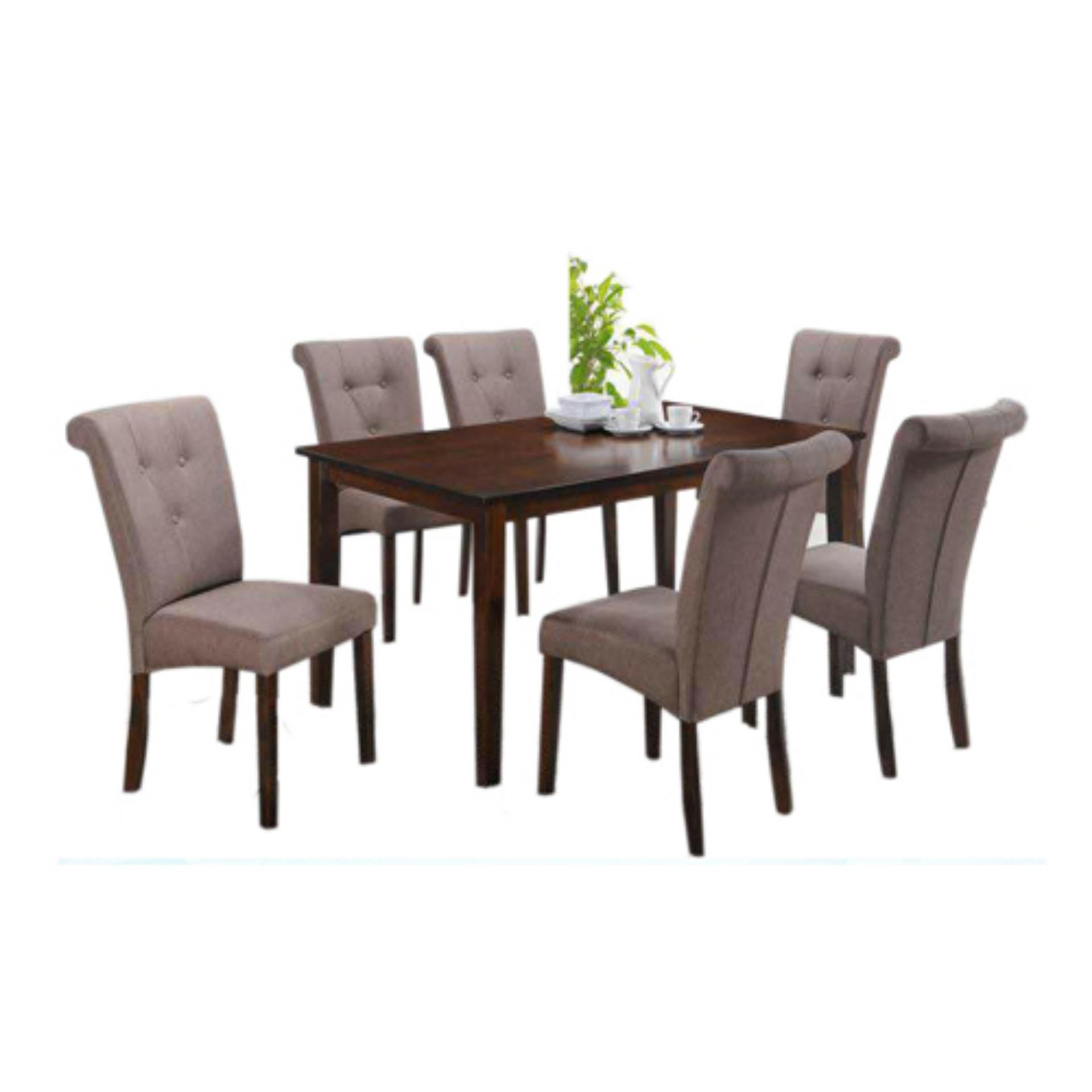 Philippines. Dexter 6-Seater Dining Set (Cherry Brown) 7d694f2a63