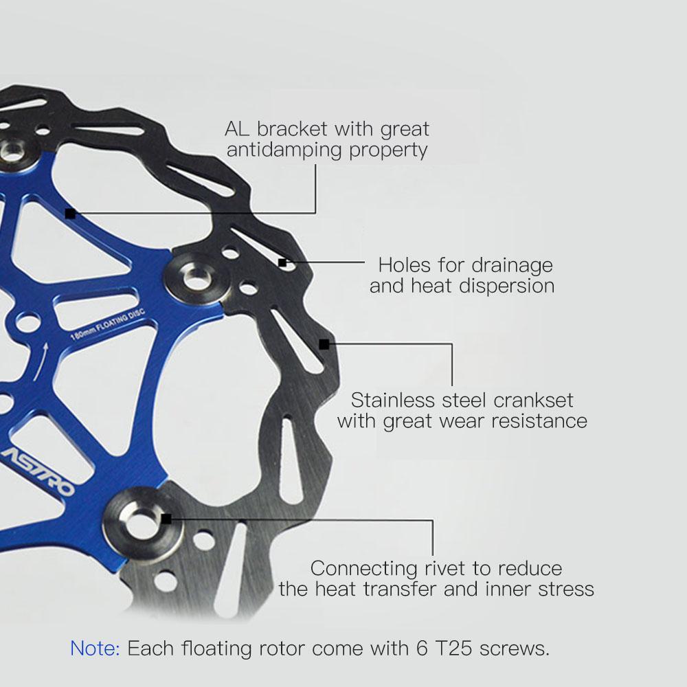 160mm//180mm MTB Mountain Bike Bicycle Floating Rotors Brake Disc