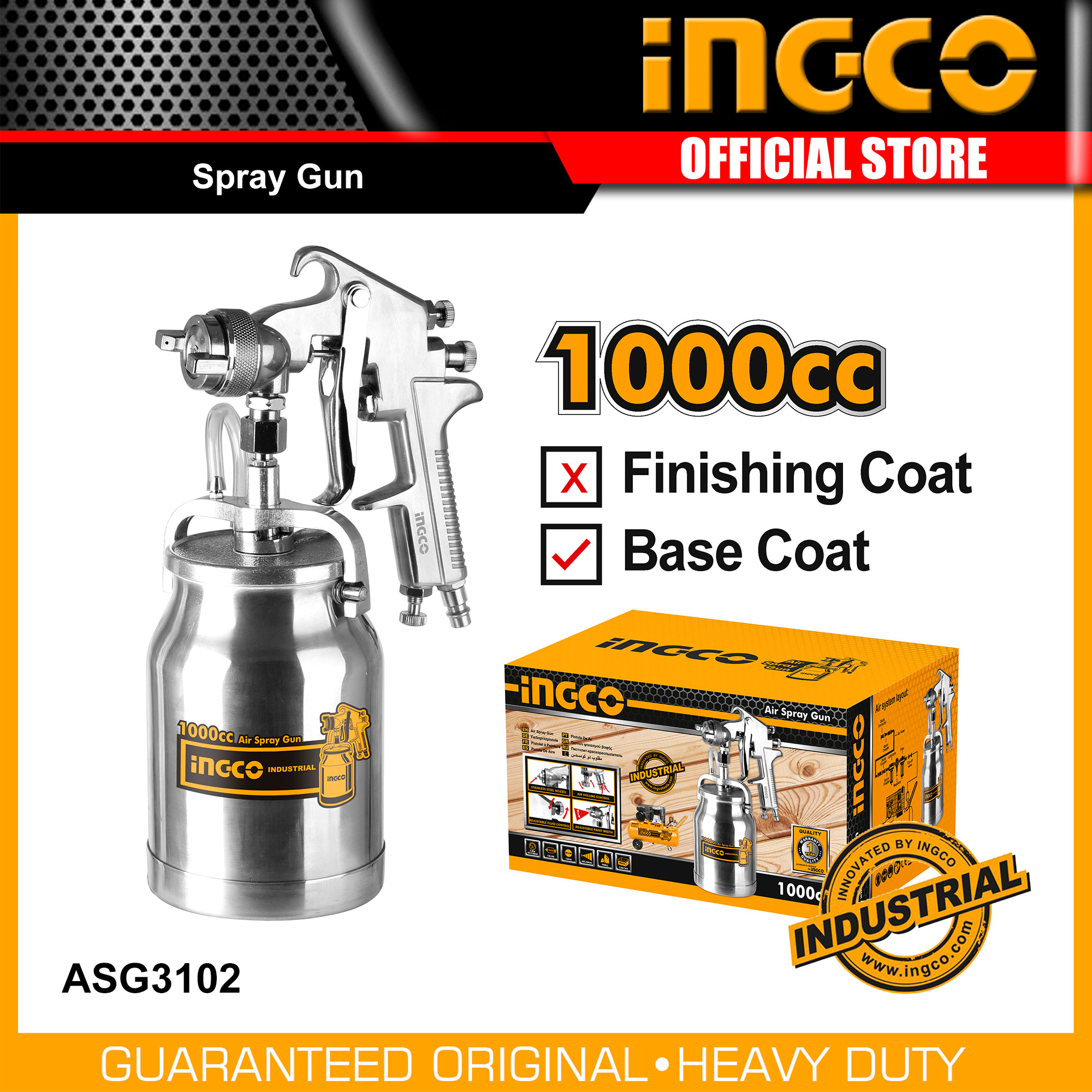 Ingco Asg3102 1000cc Spray Gun Buy Sell Online Paint Tools