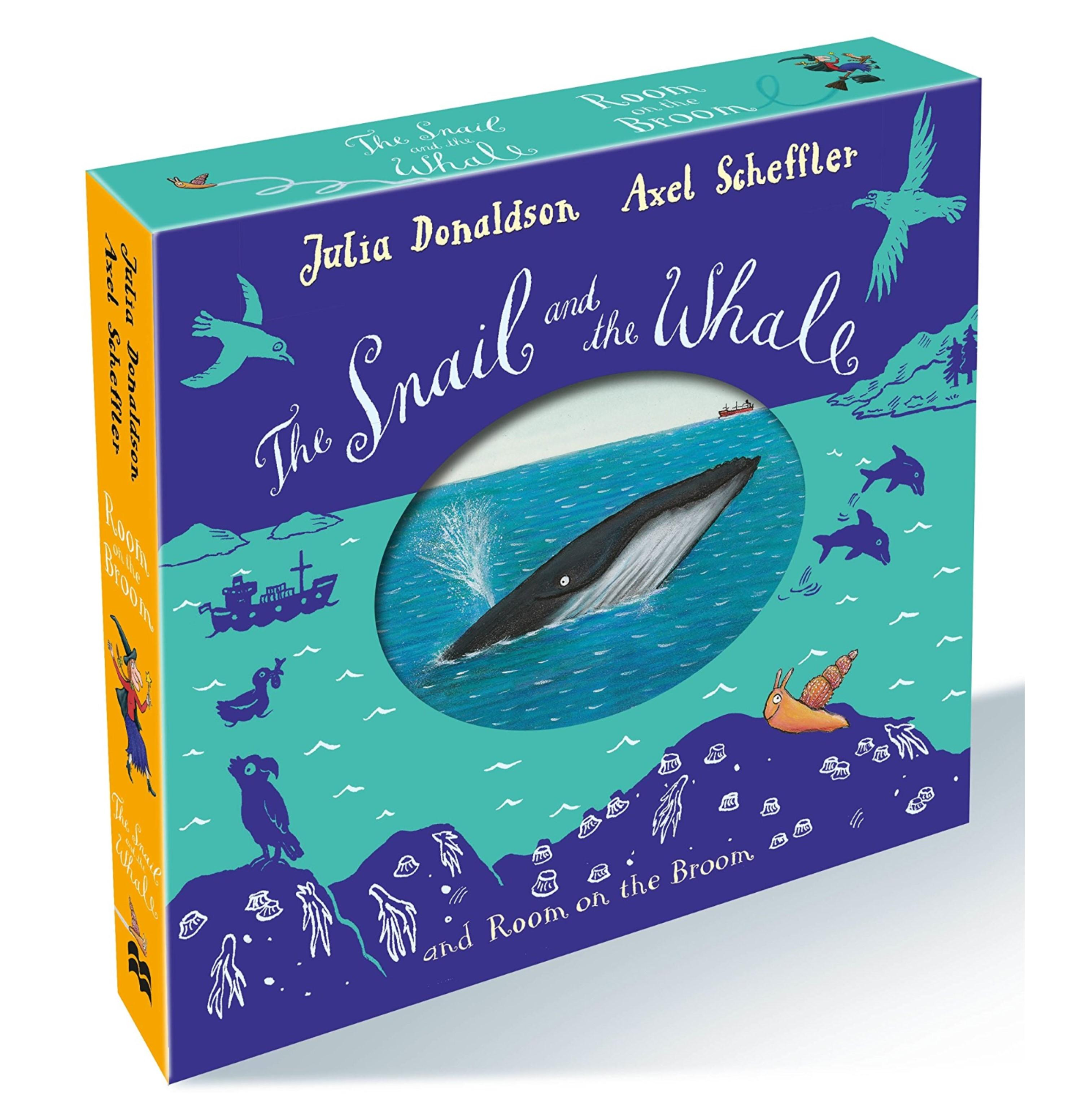The Snail And The Whale / Room On The Broom Box Set / Slipcase / Gift Set / By Julia Donaldson * Boardbook * Age: 2-5 Years * Childrens Books By Cookeebookee.