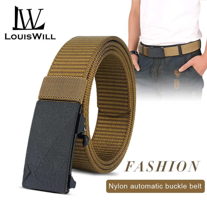 Casual  Men/'s Waistband Leather Automatic Buckle Belt Waist Ratchet