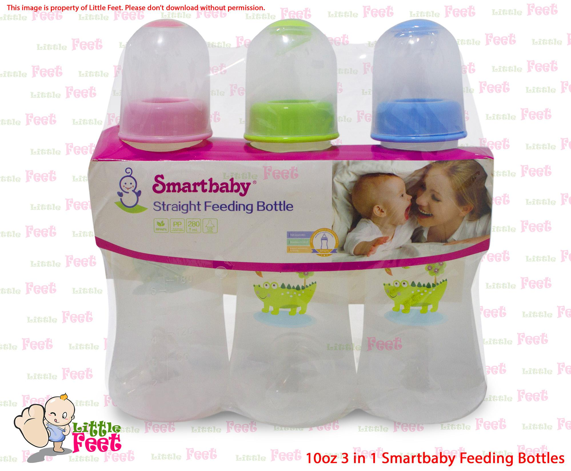 3 In 1 10oz Smartbaby Feeding Bottles By Zesapa Ent..
