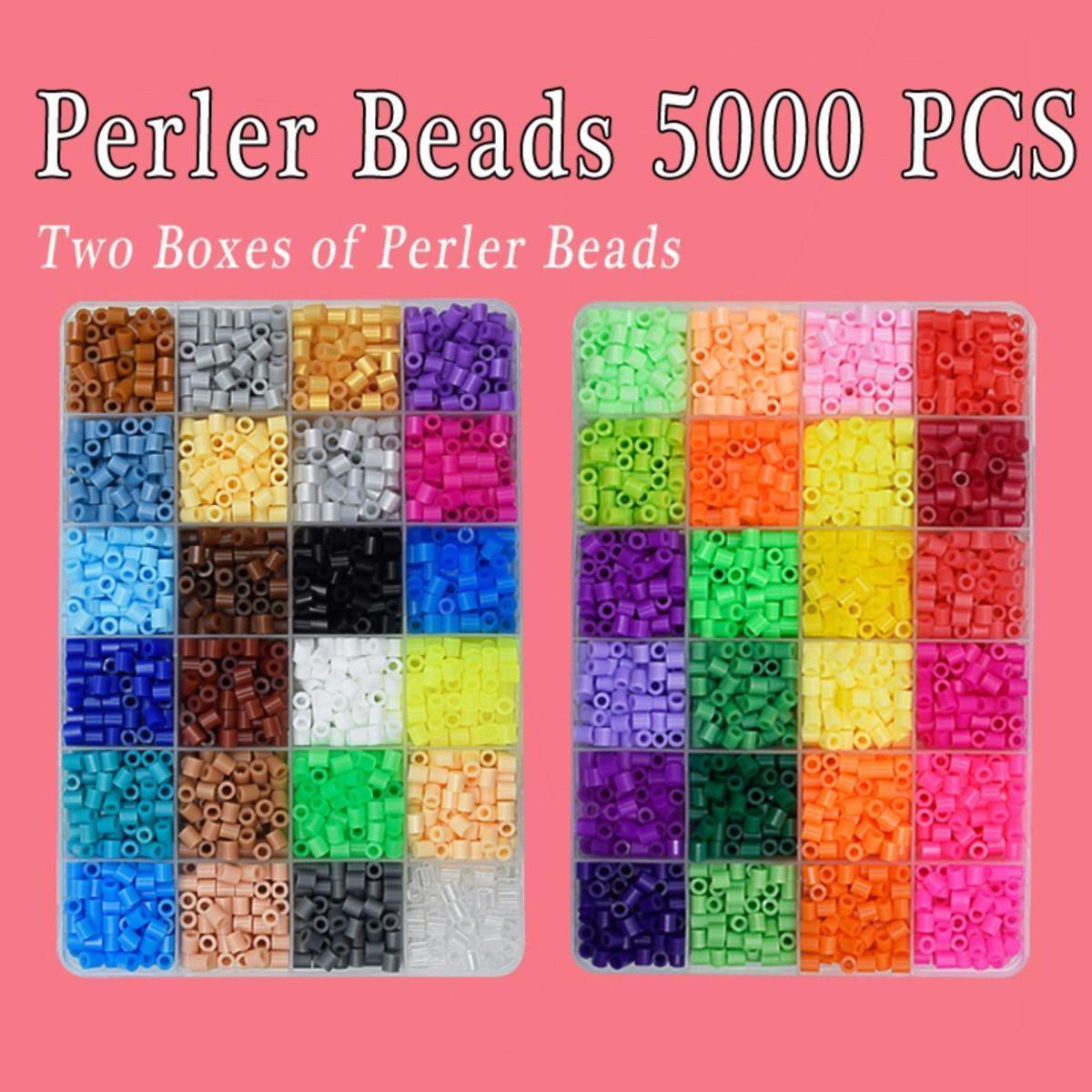 Perler Beads Fused Bead Kit 5000 Piece Beads Craft Beads For Kids By Tcgbhvkog.