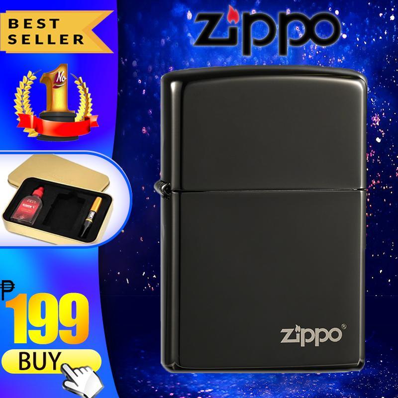 Zippo Classic Lighter (Black Ice) Windproof Cigarette Lighter Gift Box