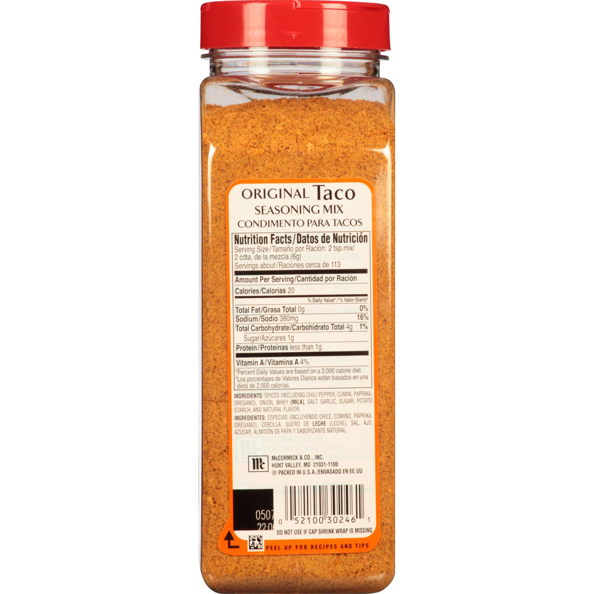 Mccormick Original Taco Seasoning Mix 24 Oz Lazada Ph