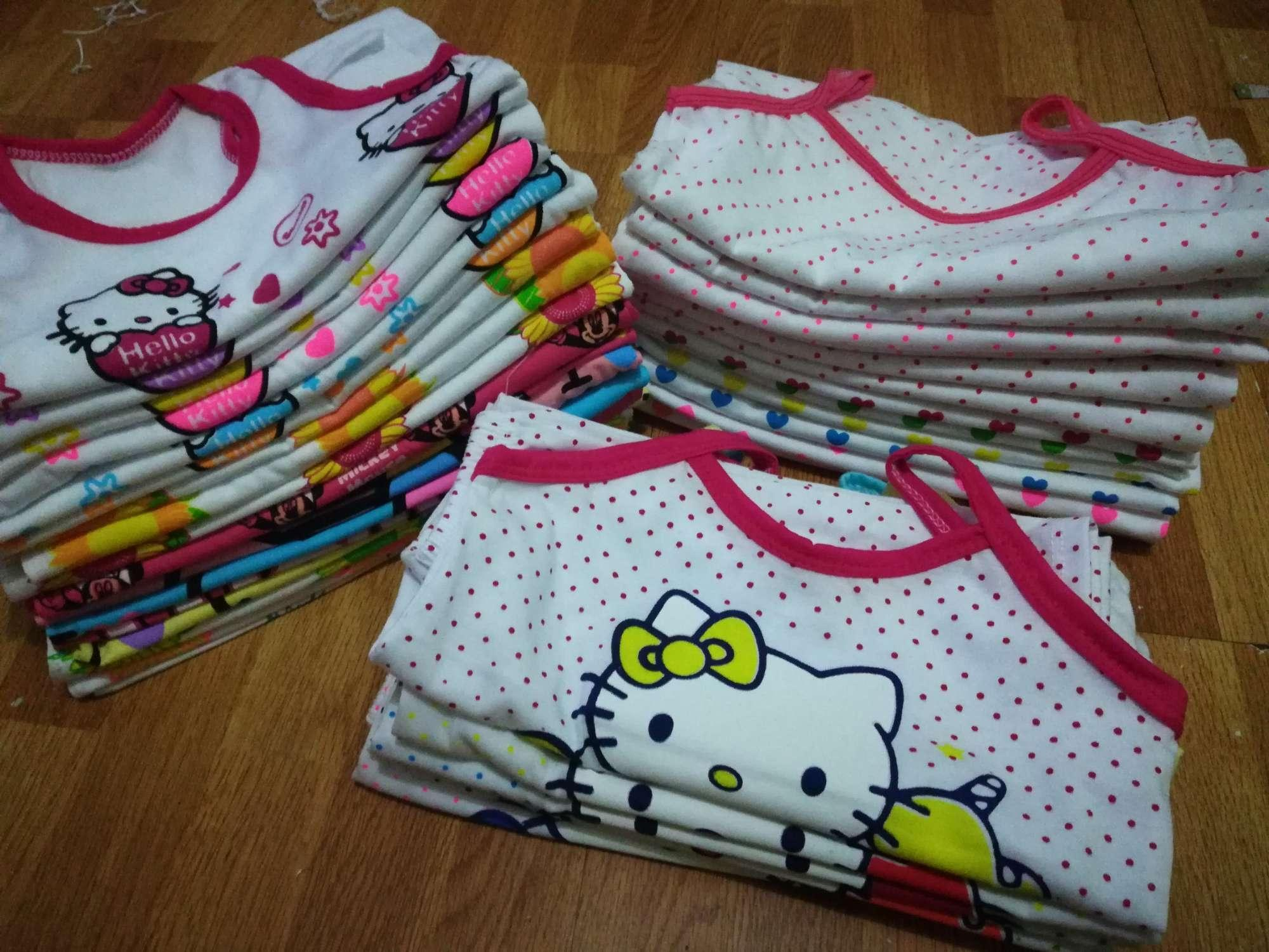 12pcs Sando&short For Your Little Girl 0-6m (6sets) By Kcmaxxine Merchant.