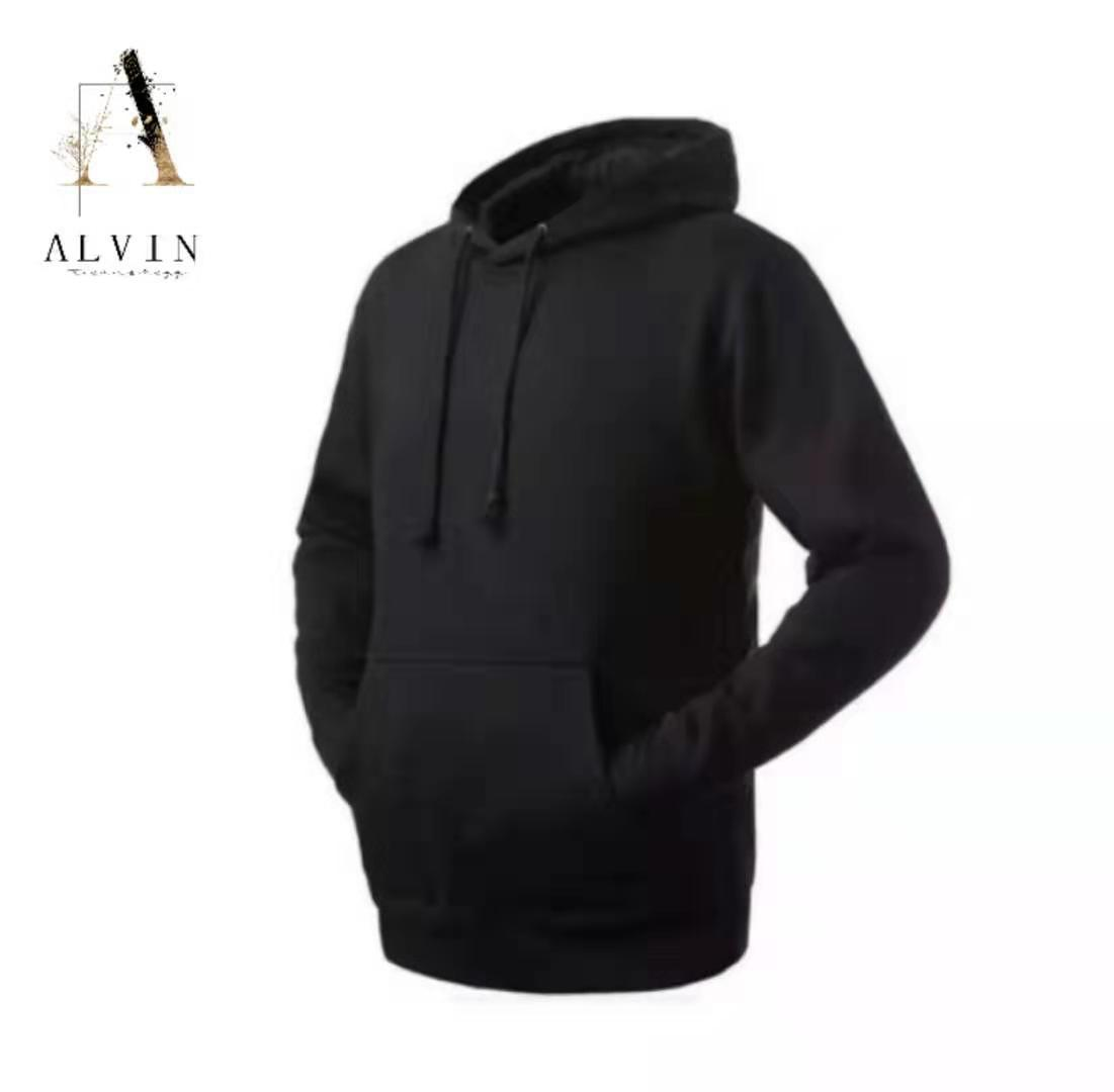 ALVIN# Unisex Plain Hoodie Jacket Sweater